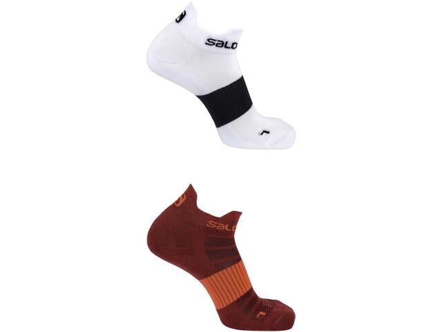 Salomon Sense - Chaussettes course à pied - 2 Pack rouge/blanc